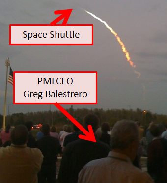 Ballestrero watches shuttle launch