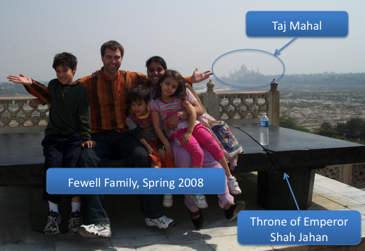 Fewell Family in India